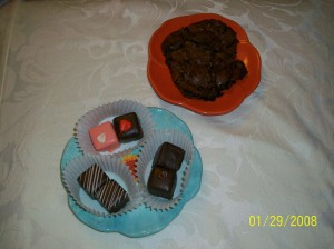 Petit Fours & Chocolate Chewies from The Fresh Market