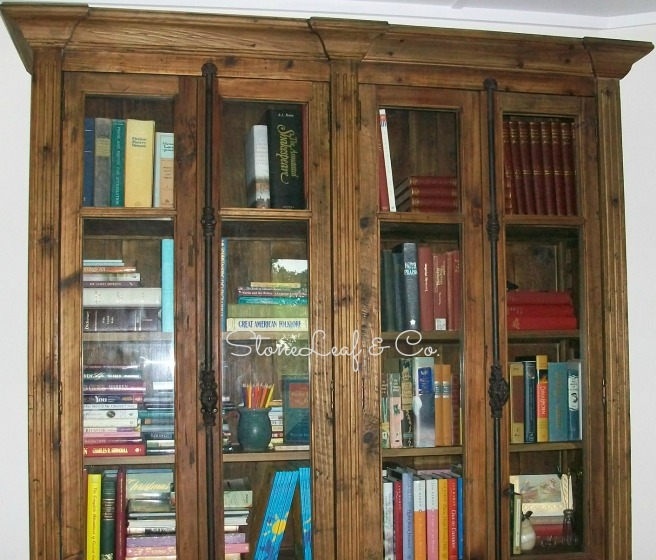 Some of  my books in the book hutch that found me
