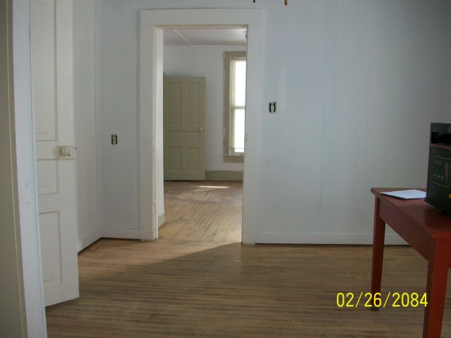 This was after the walls were painted and the floors refinished.