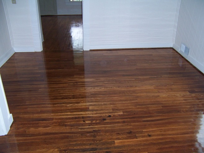 After the floors were finished.