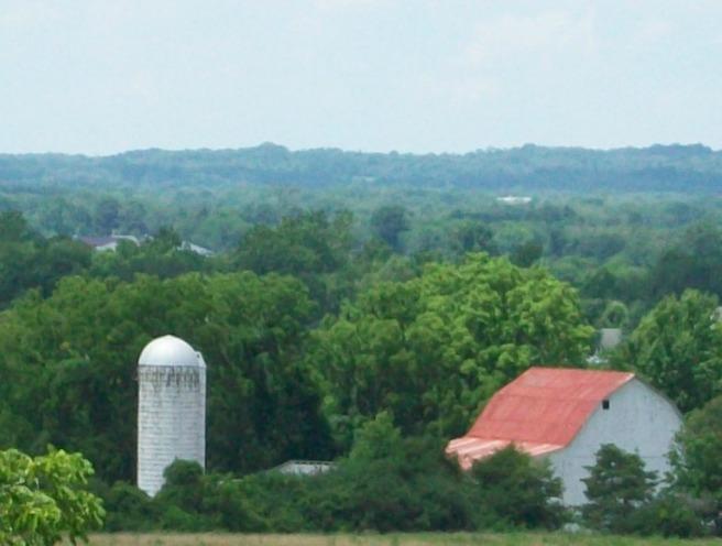 This barn was near Dawes Arboretum.