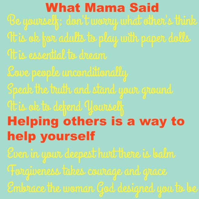 what mama said