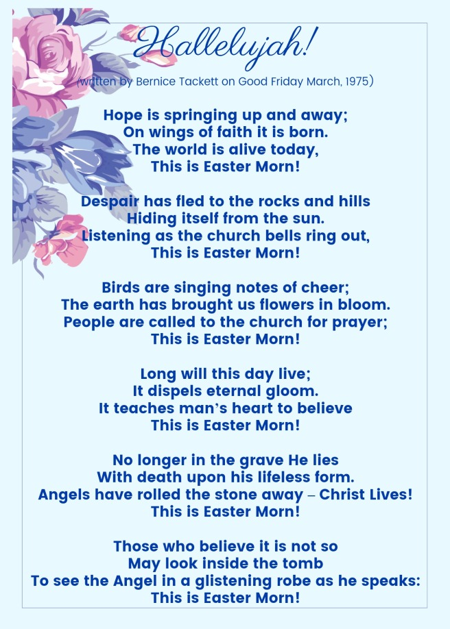 Mom's Easter Poem